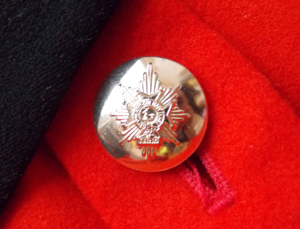 Worcester and Foresters Mess Dress button.
