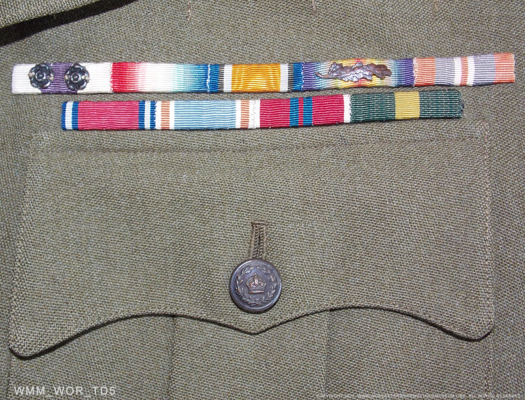 WW2 Colonel's medal ribbons with Military Cross and Bar.